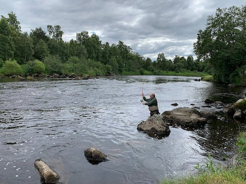 Casting for Sea Trout on the River Spey