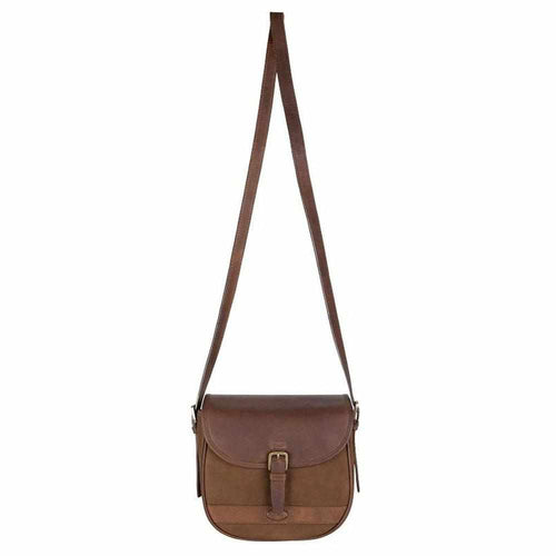 Dubarry Clara Leather Saddle bag - Walnut-Gamefish