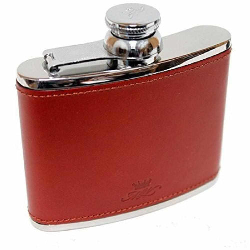 Marlborough Chestnut Hip Flask - 4oz - Gamefishltd