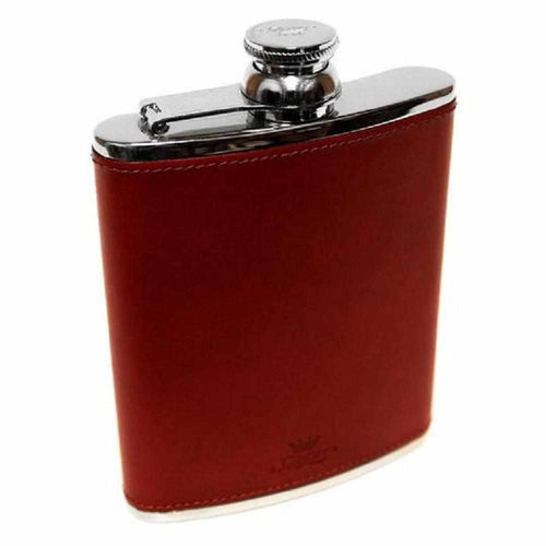 Marlborough Hip Flask Chestnut - 6oz - Gamefishltd