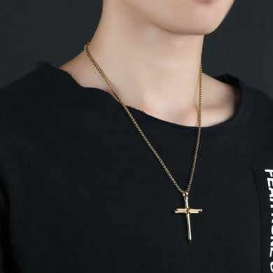 Rope Cross Pendant Necklace