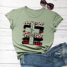 Load image into Gallery viewer, Faith Cross Plaid T-Shirt