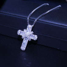 Load image into Gallery viewer, Crystal Cross Necklace