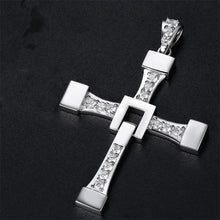 Load image into Gallery viewer, Rhinestone Cross Necklace