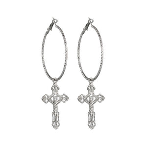 Vintage Cross Pendant Earrings