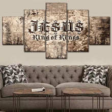 Load image into Gallery viewer, Jesus King of Kings Canvas 5 Piece Wall Art