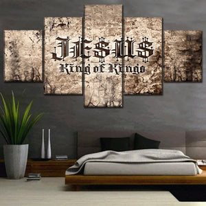 Jesus King of Kings Canvas 5 Piece Wall Art