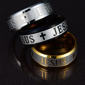 Jesus Cross Wedding Ring