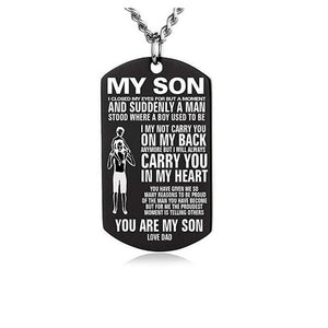 My Son Love Dad Dog Tag Necklace