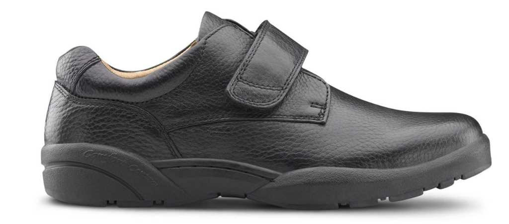 dr comfort william black shoe right side view 1024 x 451