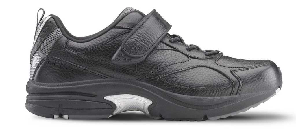 dr comfort mens black winner athletic shoe right side view 1024 x 451