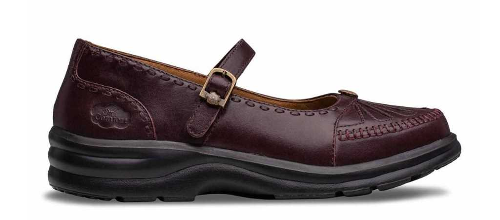 dr comfort burgundy womens paradise dress shoe right side view 1024 x 451