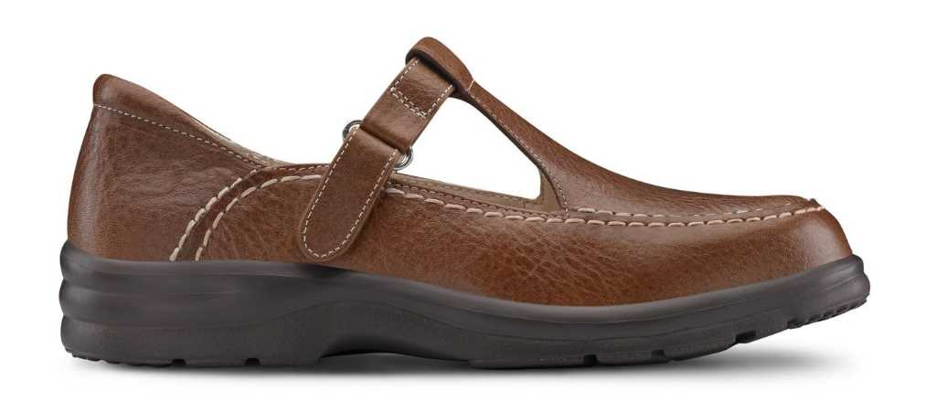 dr comfort womens chestnut lulu casual shoe right side view 1024 x 451