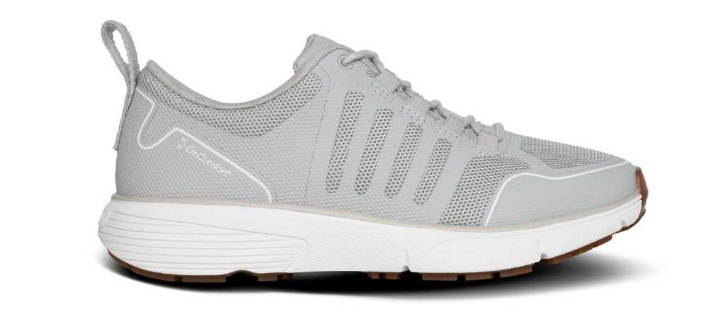 dr comfort womens grey grace athletic shoe right side view 1024 x 451