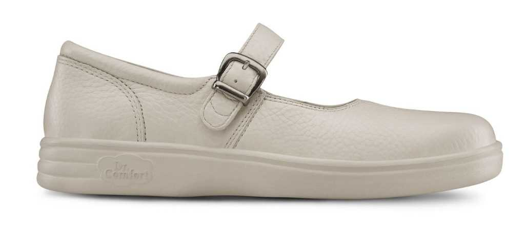 dr comfort womens light beige merry jane shoe right side view 1024 x 451