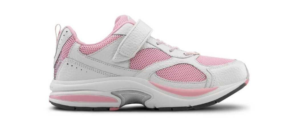 dr comfort pink womens victory athletic diabetic shoe right side view 1024 x 451
