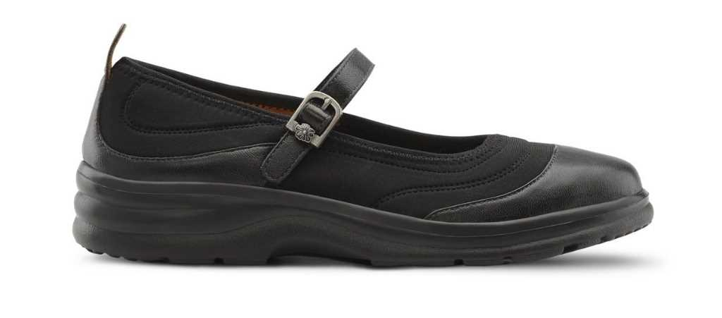dr comfort womens lycra flute mary jane shoe right shoe view 1024 x 451