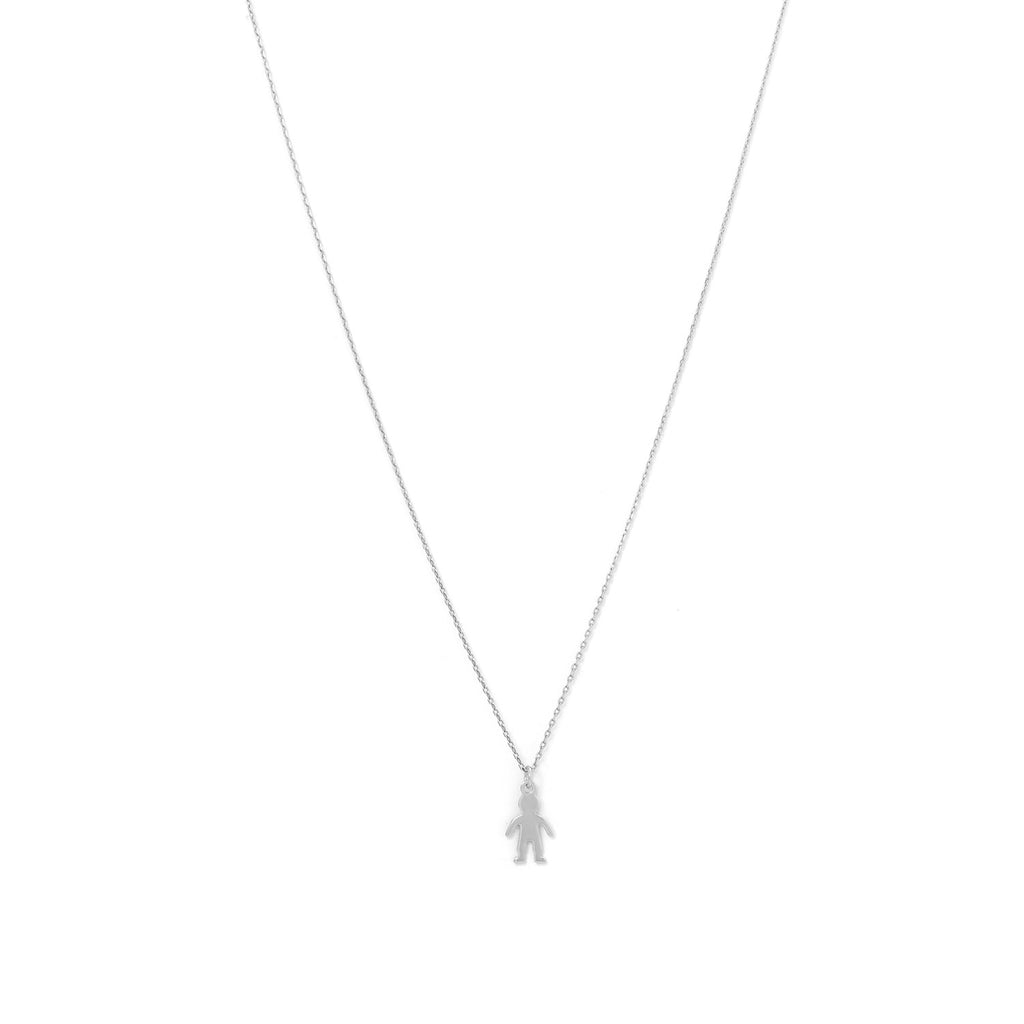 Rhodium Plated Boy Necklace