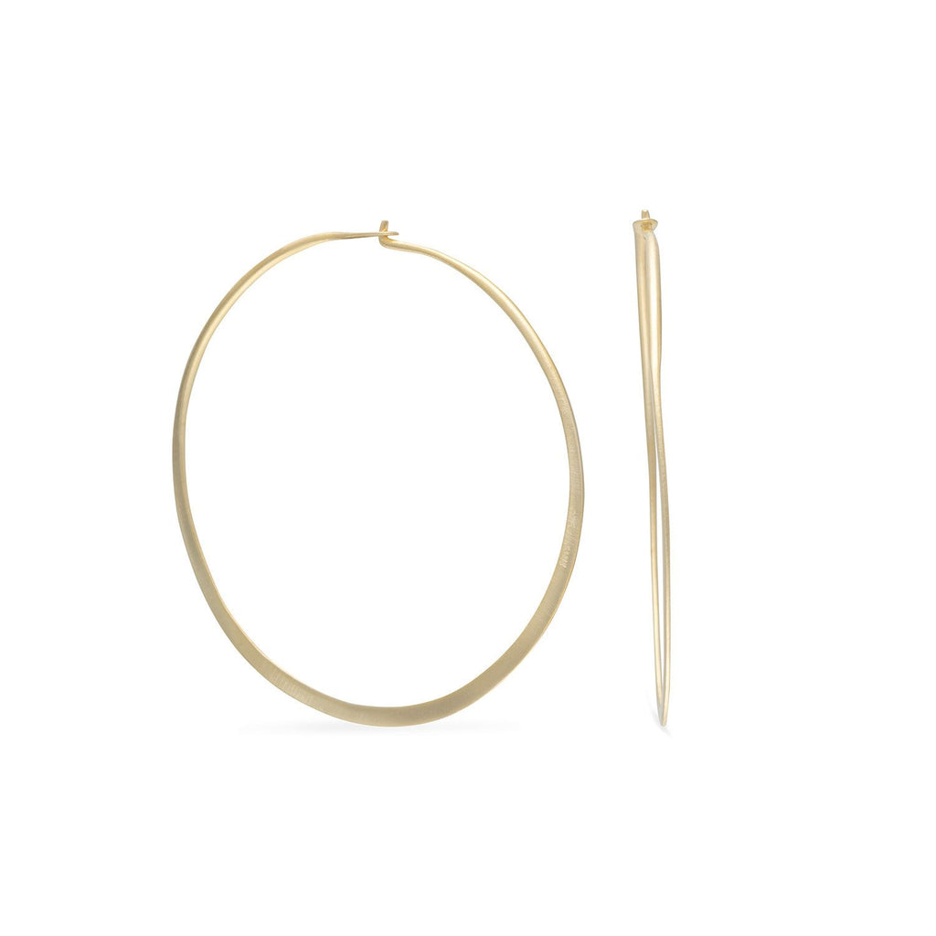 14 Karat Gold Plated Hoop Earrings
