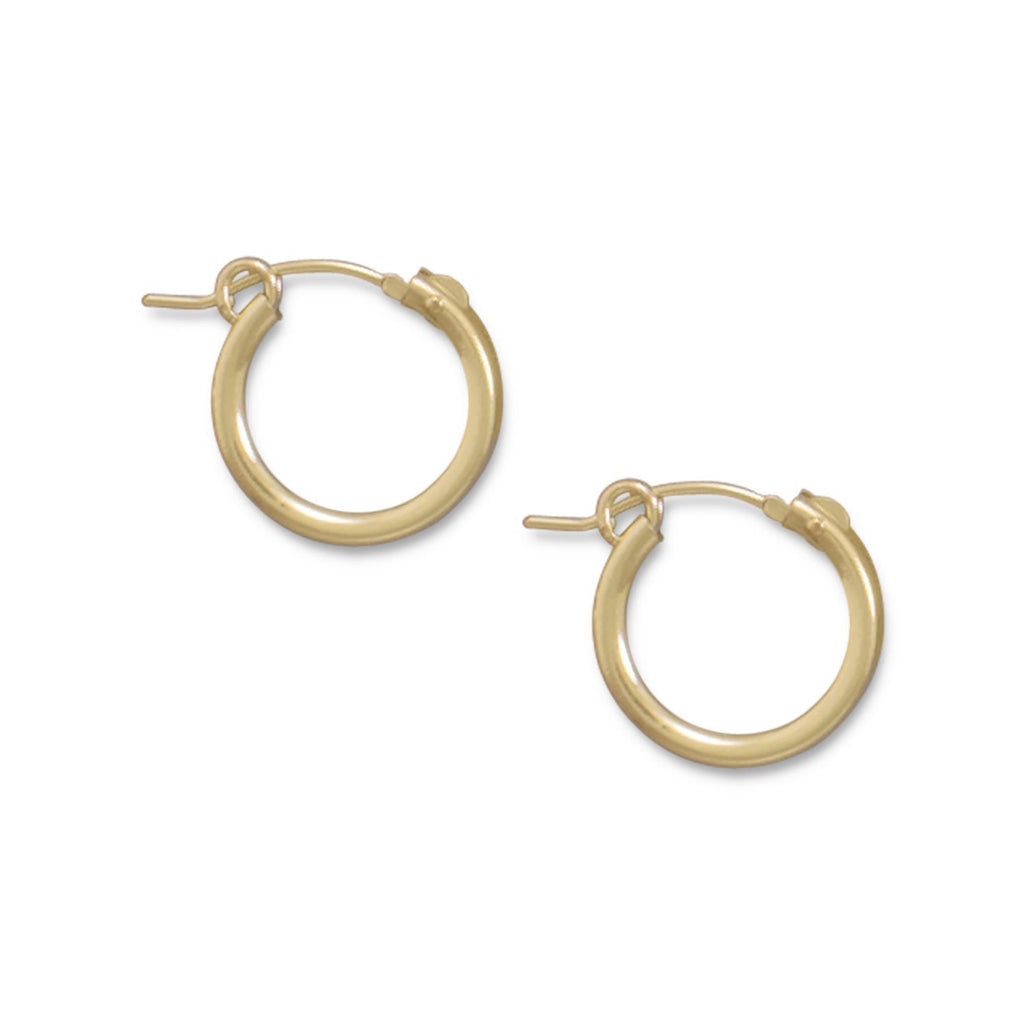 12/20 Gold Filled 2mm x 15mm Hoops