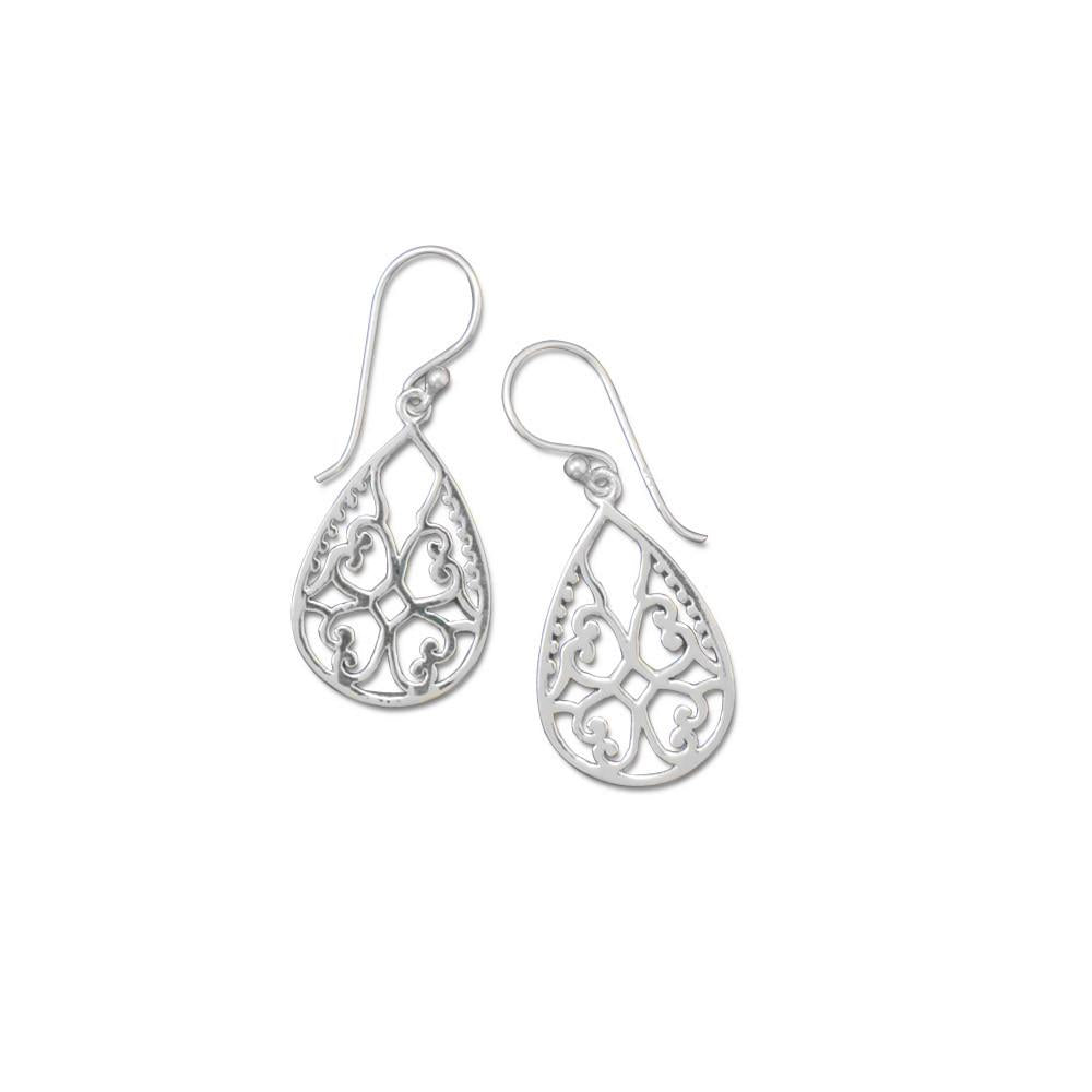 Ornate Cut Out Design Earrings