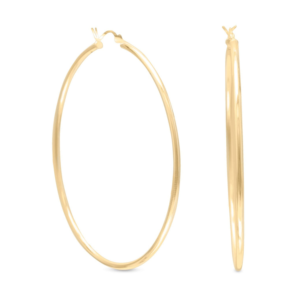 2mm x 60mm Gold Plated Click Hoop