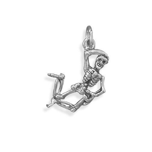 Oxidized Skeleton Charm