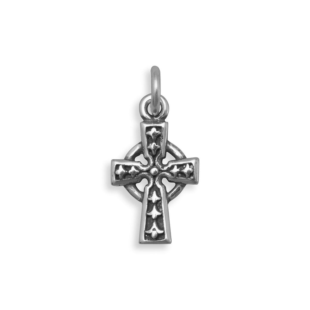 Oxidized Celtic Cross Charm