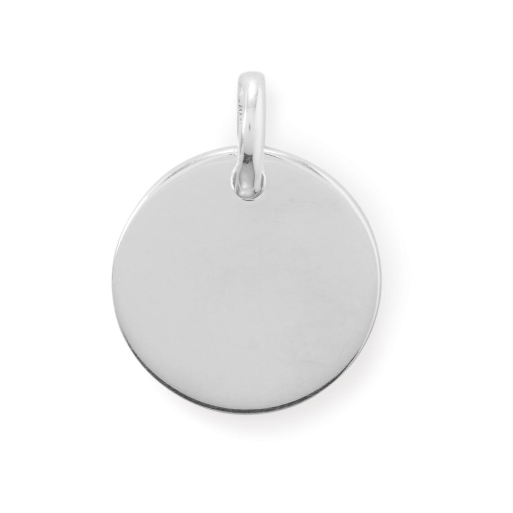 17.5mm Round Engravable Pendant