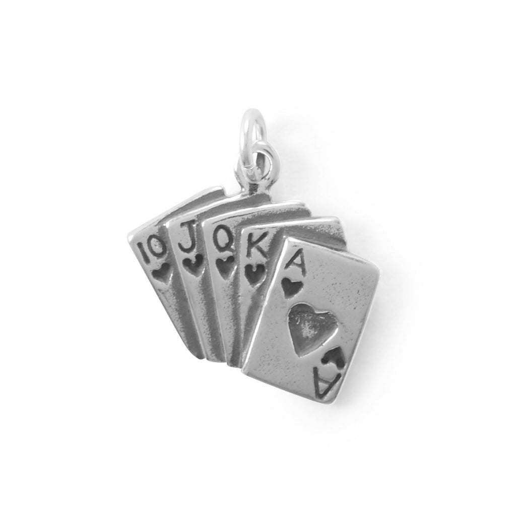 Winner Takes All! Royal Flush Cards Charm