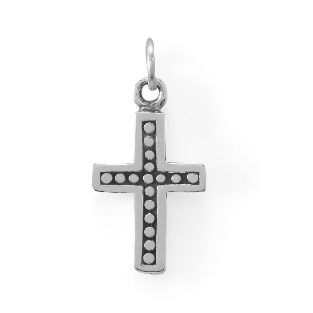 Oxidized Cross Charm