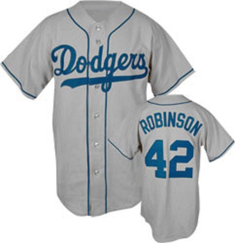 Jackie Robinson Brooklyn Dodgers Gray Jersey