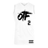 OTF Logo White Basketball Jersey + Digital Album