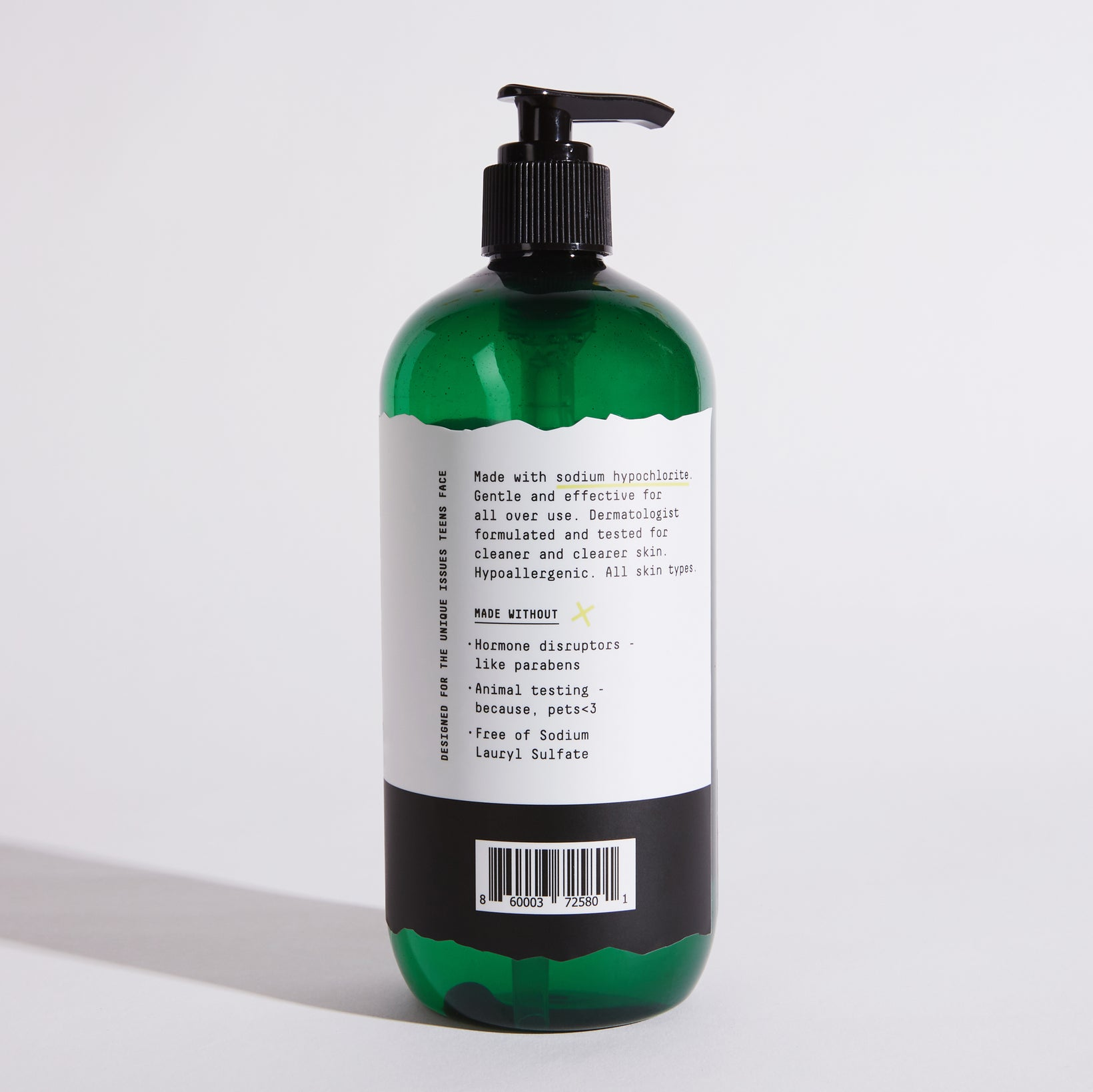 A teen acne wash for face and body