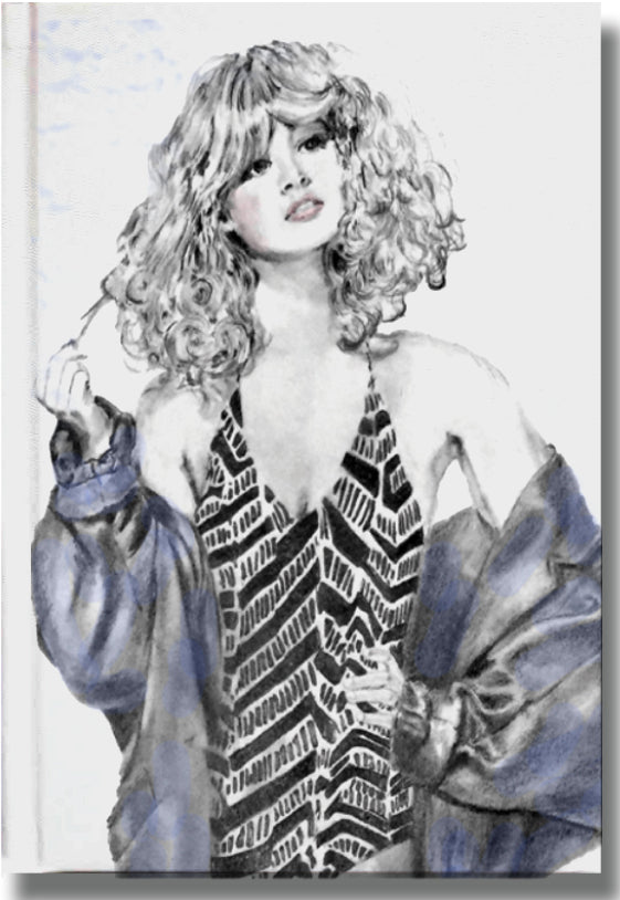 Fashion Illustration Journal in Black and Blue