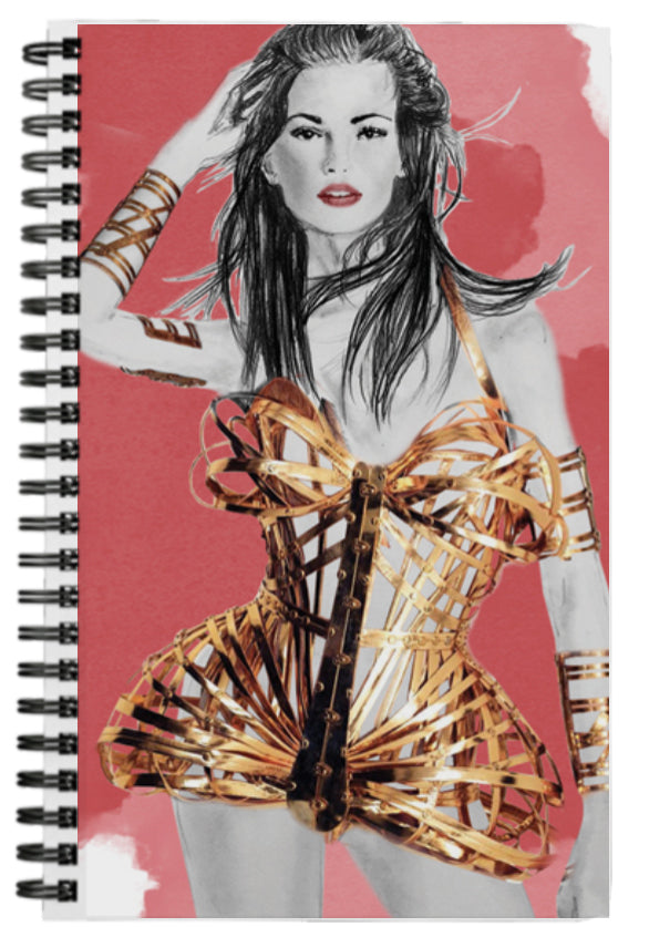 Gorgeous Fashion Gold and Red Journal