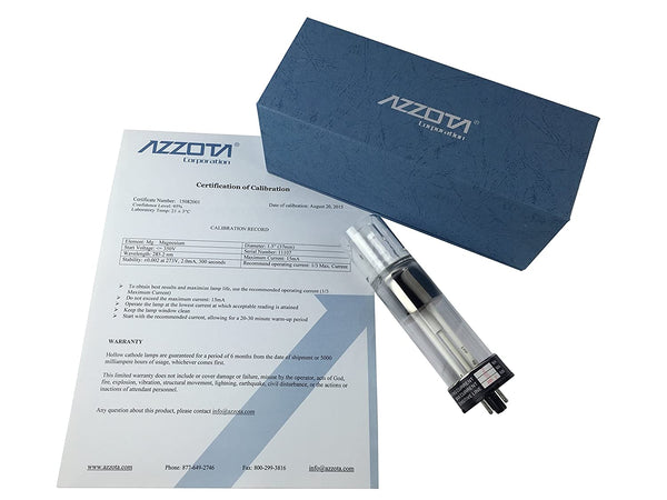 "Azzota® Hollow Cathode Lamp, 1.5"",  Zinc (Zn)"