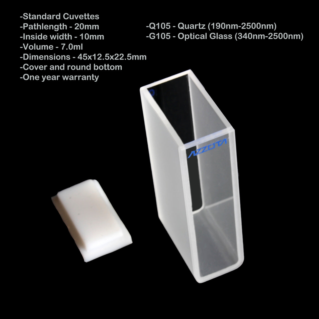 20mm Pathlength Standard Cuvette - 7ml