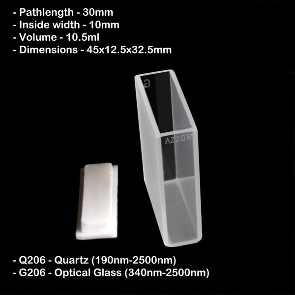 30mm Pathlength Standard Cuvette - 10.5ml
