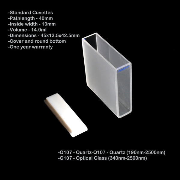 40mm Pathlength Standard Cuvette - 14ml