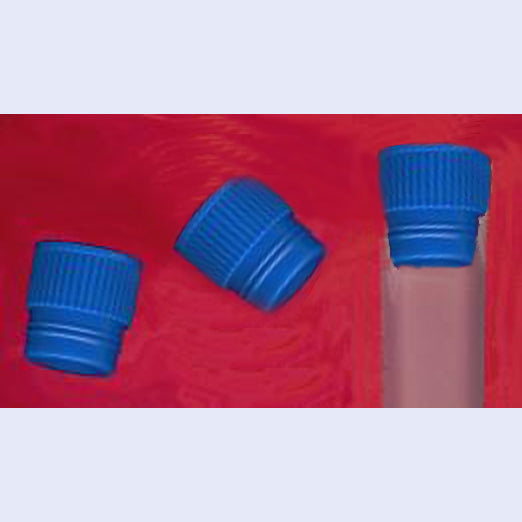 Blue Plug Cap for 16mm Diameter Test Tubes pack of 100
