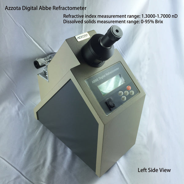 Azzota Digital Abbe Refractometer with refractive index measurement range: 1.3000-1.7000 nD