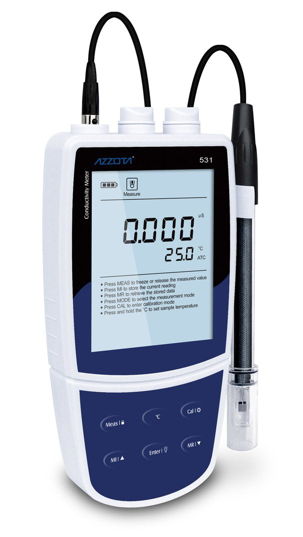 Azzota® Portable Conductivity/Salinity Meter (2020 Model)
