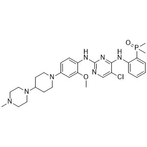 AP-26113 (Brigatinib) Chemical Formula: C29H39ClN7O2P Moleculer Weight: 584.1 CAS#: 1197953-54-0 Appearance: Solid powder Purity: > 99% by HPLC