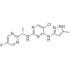 Product Name: AZD-1480 Chemical Formula: C14H14ClFN8 Moleculer Weight: 348.76 CAS#: 935666-88-9 Appearance: Solid powder Purity: > 99% by HPLC