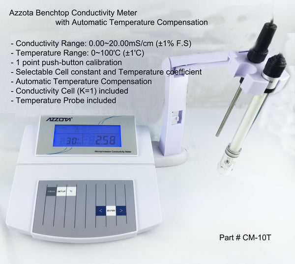 Benchtop Conductivity Meter with Temperature