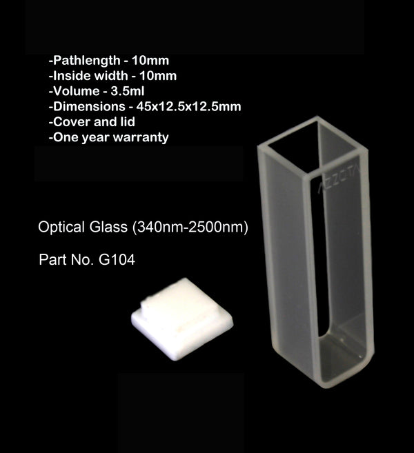 10mm Standard Glass Cuvette - 3.5ml