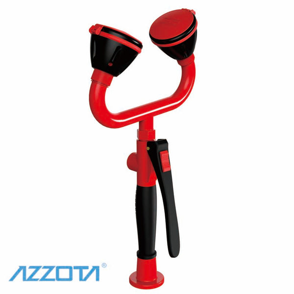 Azzota emergency eye wash station with two spray heads