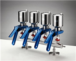 stainless steel manifold for four  filtration unites is fitted with SUS316 stainless steel unites