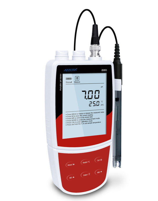 New Version Azzota Waterproof Portable pH Meter, PPH-220